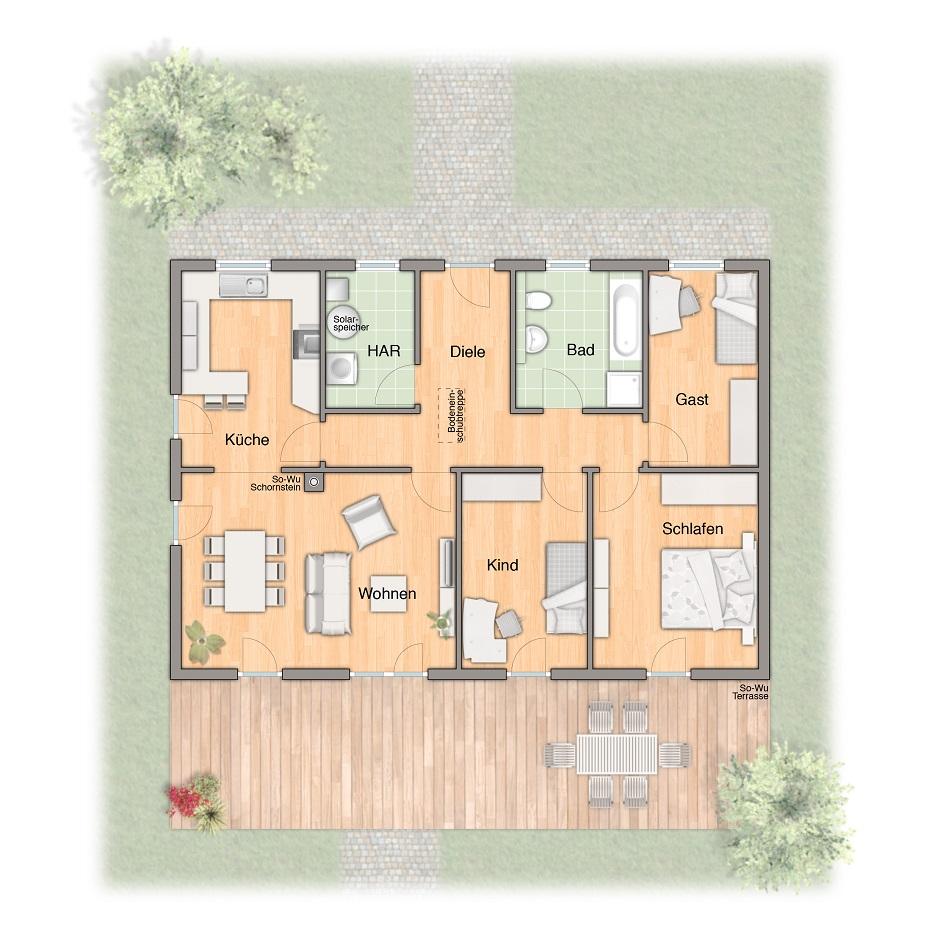 Gr bungalow110 mit landschaft massivhaus berlin blog for Massivhaus berlin